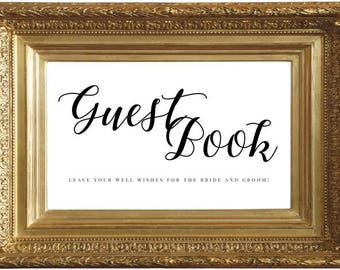 Guest Book Sign, Wedding Sign, Gift Table Sign, Wedding Guest Book Sign