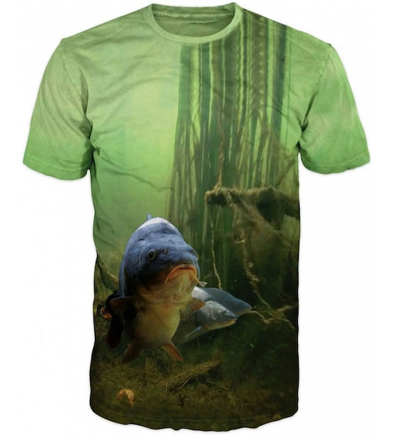 Cool 3D Sublimation Printed Pike Luce Fishing Mens T-shirt KygheNMGH