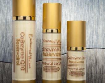 Coq10 Serum w/ Resveratrol, Alpha Lipoic Acid, Argan Oil - Wrinkle Skin Reneuwal - Wrinkle Reduction as Seen on Dr OZ - NEEDLE ALTERNATIVE