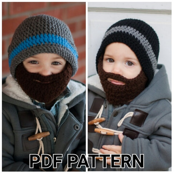 Pattern Crochet Beard Hat Pattern With Detachable Beard Sizes