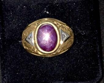 Vintage Purple Star Sapphire Ring