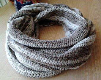 Unisex Infinity Scarf Loop/Women's men's angora infinity scarf/Angora infinity scarf/unisex crochet scarf/women's ring scarf