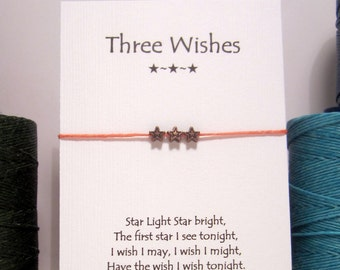 Three Wishes Copper  Wish Bracelet