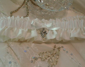 Wedding Garter, Ivory Garter, Bridal Garter, Wedding Keepsake Garter, Bridal Keepsake Garter, Ivory Wedding Accessories, Garter for Wedding