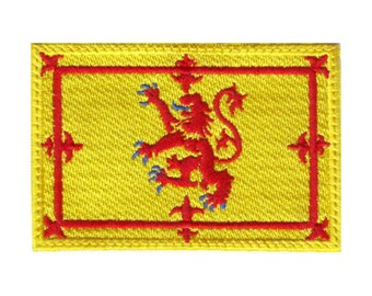 Scotland Rampant Lion Flag Embroidered Patch