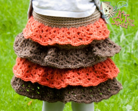 Crochet skirt pattern easy ruffle skirt pattern girls tiered