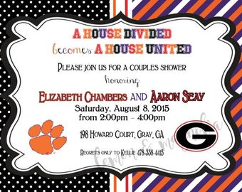 UGA Clemson House Divided Invitation
