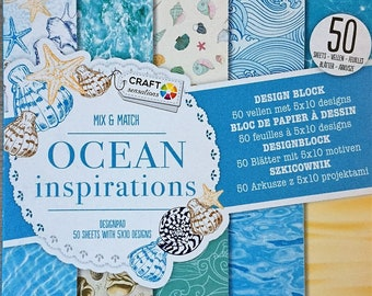 Scrapbooking ocean paper 50 sheets