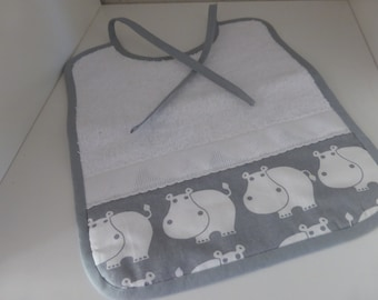 Customizable baby - grey and white - small Wolverines bib