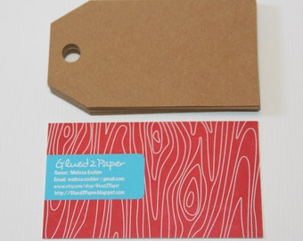 Large Kraft tags, Kraft business cards, Brown Luggage Label, Wedding Favor tags, 3.5x2 inches
