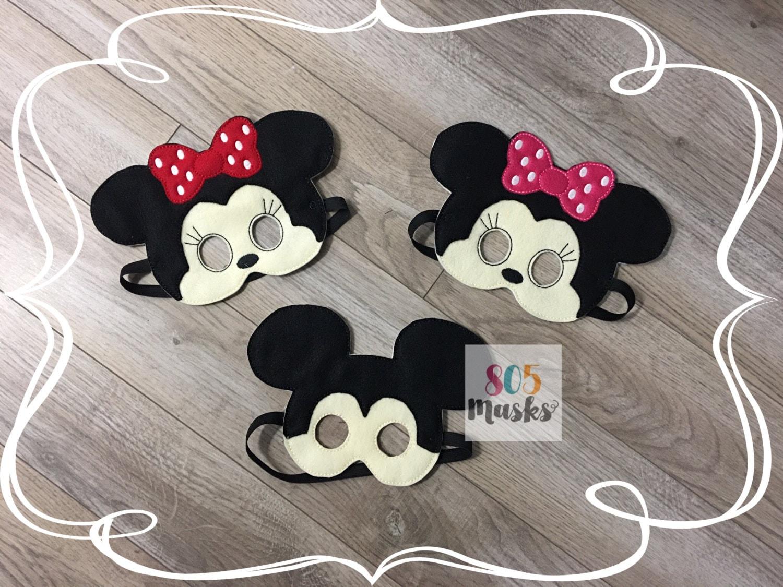 Mickey Mouse und Minnie Maus inspiriert Masken Maus Maske