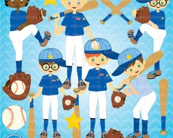 80%OFF Boys baseball team clipart, commercial use, vector graphics, digital clip art, digital images, AMB-227
