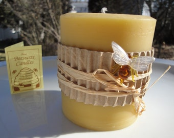 """Pillar Candle 100% Pure Beeswax Candle 
