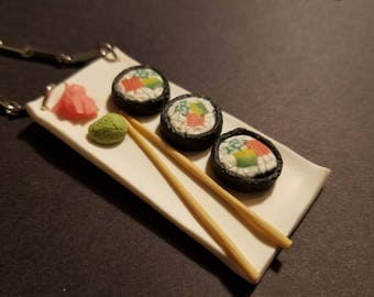 Sushi Roll Platter Necklace