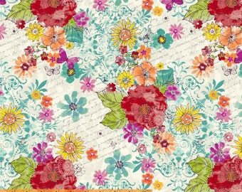 Mariposa - Butterfly Flora - Another Point of View Cotton Print Fabric from Windham Fabrics
