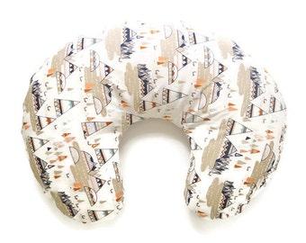 Nursing Pillow Cover Woodland Oak Mountains- Nursing Pillow Cover - Mountain Boppy Cover - Boppy Pillow Case - Boppy Slip Cover - Woodland