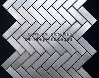 Stainless steel mosaic kitchen broken stick