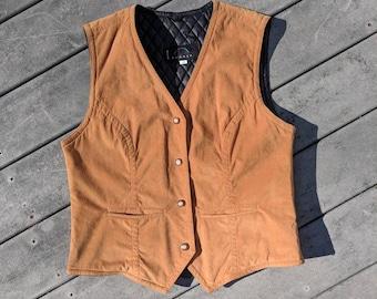 Vintage 70's/80's Brown Suede Weatern Style Vest, Medium