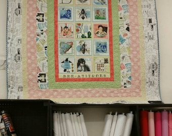 This is a twin size quilt