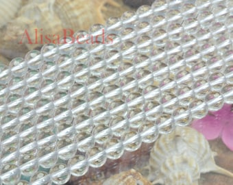 Rock Crystal,smooth round,6mm,beads,15 inches