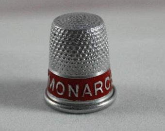 Collectible Thimble Vintage Aluminum Advertising Thimble Monach Ranges Like New Condition RARE Made In The USA