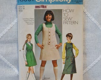 Vintage Simplicity 8961 Sewing Pattern Misses Jumper Size 14 Crafts  DIY Sewing Crafts PanchosPorch