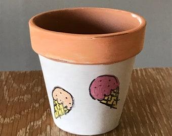 Ice Cream Succulent Planter