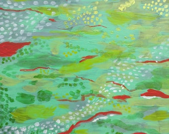 Queue de sirène - peinture abstraite par Amanda Laurel Atkins