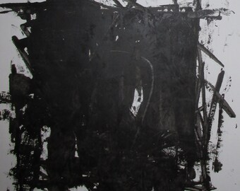 "Abstract Minimal No.0310 Acrylic on Paper 24x18"" Original Modern Art"