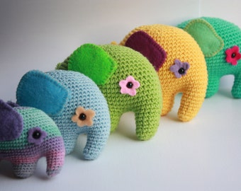 Crochet Amigurumi Elephant PATTERN - PDF Tutorial - Instant Download - Printable - In English