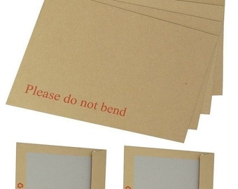 C4 / A4 Manilla Board Backed Envelopes - Please Do Not Bend