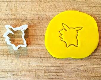 308. Pikachu Cookie Cutter, Fondant Cutter, 3D Printed