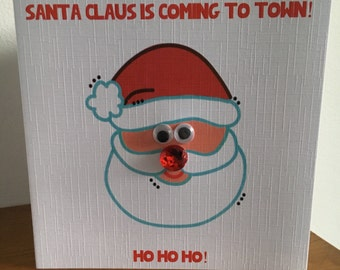 Santa Claus is coming to town christmas cards
