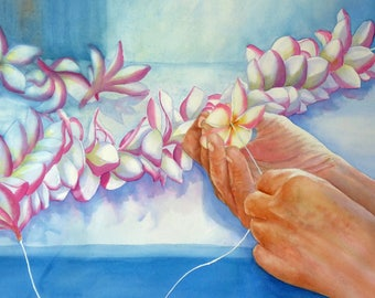 Lei Painting Art Print
