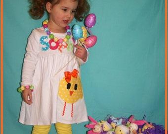 Toddler Easter Dress, Easter Chick Dress, My First Easter Outfit, Toddler Girls Easter Dress, Sassy Chick Easter Dress