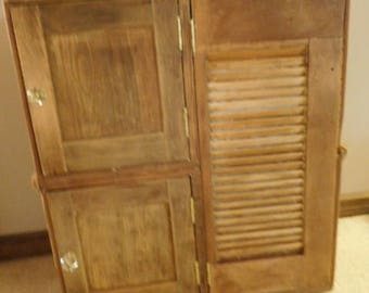 Vintage Wooden Ship Cabinet wth 3 Doors