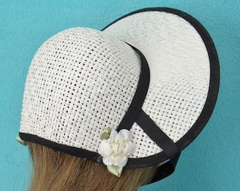 18 inch Doll Poke Bonnet with Black Trim