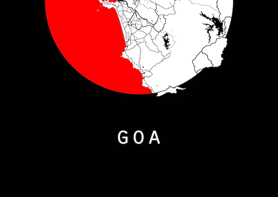 Goa map world map india map maps black and white map like this item gumiabroncs Images