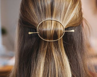 Metal Hair Clip, Gold Hair Pin, Metal Hair Barrette, Gold Filled Bun Holder, Brass Hair Slide Copper , Hair Clip Metal, Hair Jewelry