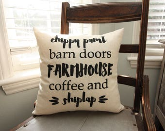 Funny Pillow / Southern Pillow / Chippy Paint / Farmhouse Decor