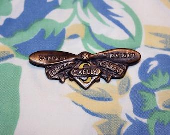 Captain Midnight Flight Patrol Pin, 1940s