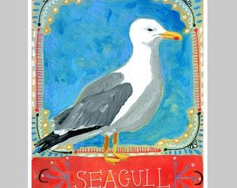 Animal Totem Print - Seagull