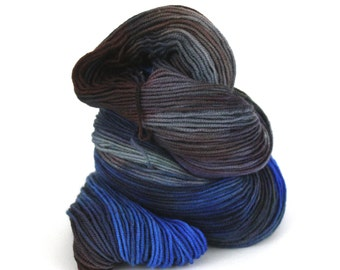 CLEARANCE:  Hand-Painted DK Superwash Merino Wool Yarn - Foggy Morning at Shore