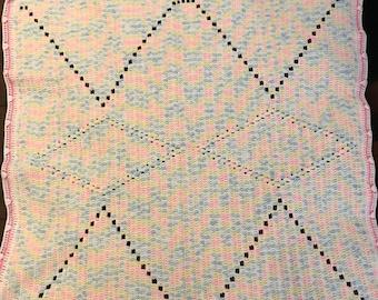 Crochet Baby Blanket  - Multi color
