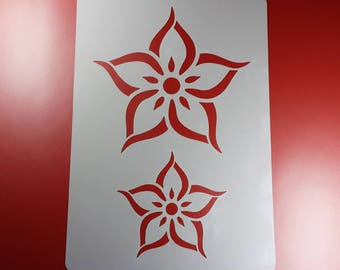 Template Flower Flower Christmas star Advent Star Poinsettia-BA58