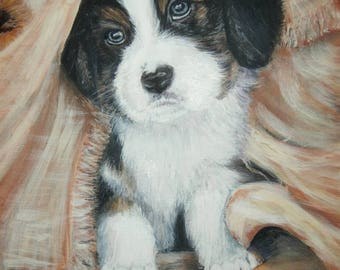 acrylic Puppy dogs art and collecting paintings