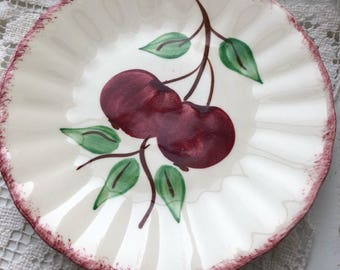 2 Blue Ridge desert plates Crap Apple pattern