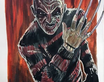 Freddy's Coming for you 8x6 inch Original