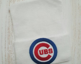 Newborn hospital hat- Chicago Cubs, Cubs baby boy or girl, newborn hospital hat, Cubs baby hat, newborn hat, baby beanie,  Chicago Cubs baby