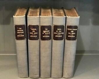 Vintage books, set of books, Louise Muhlbach, teal/gray books, display books, decorative books, book decor, wedding centerpieces, historical